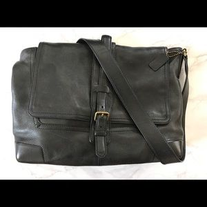 Men's Coach Pebbled Leather Messenger Bag